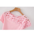 Casual lace patchwork t shirt for women short sleeve sexy t-shirt women summer 2018 femme t shirt women cotton plus size top