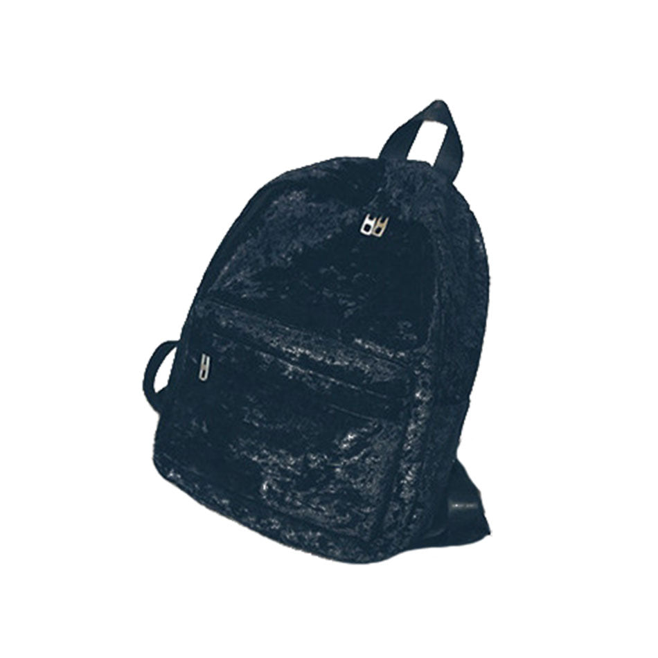 Celldeal Fashion High Quality Winter Velvet Backpack Teenage Girls College Stylish Rucksack Simple