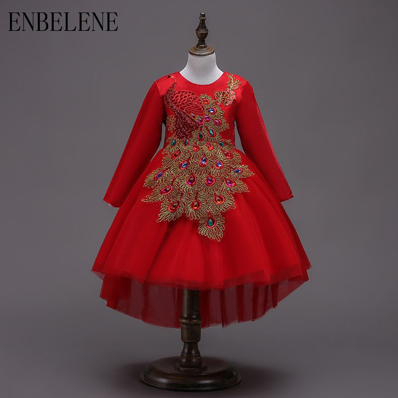 21e432e50e7d Children  39 s Dresses for Girls National Dress Kids Red Polyester ...