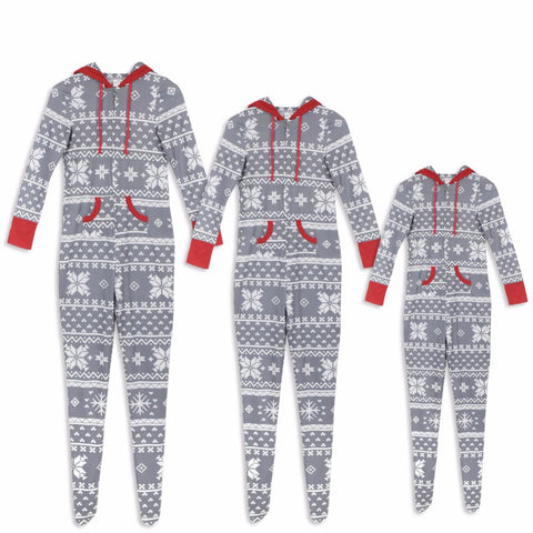 Christmas Family Set One-Piece Jumpsuit Pajamas Family Pajamas Nightwear Matching Clothes Family