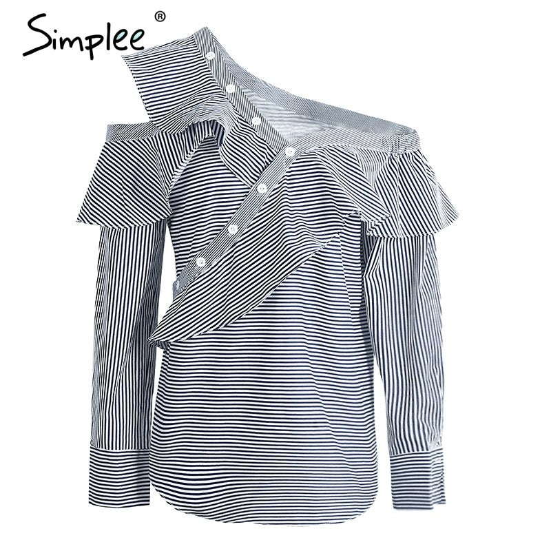 Cold Shoulder Blouse Shirt Women Tops Summer Cotton Blouses Chemise