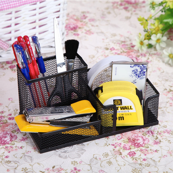 Color Metal Mesh Multi-functional Fashion Simple Pen Holder Cute Creative Pen Storage Tool Home