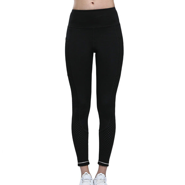 Colorvalue Breathable Mesh Running Jogger Tights Women High Stretchy Sport Fitness Pants Quick Dry