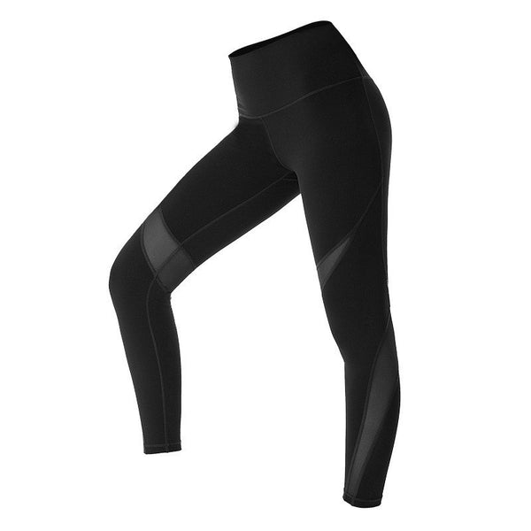 Colorvalue High Flexible Sport Fitness Leggings Women V-shape Push Up Butt Gym Athletic Tights Mesh