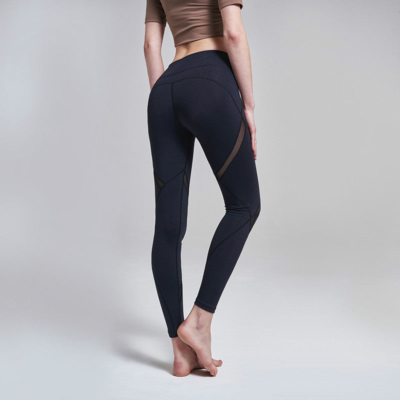 0243e02785b Colorvalue Hip Up Mesh Patchwork Jogger Fitness Leggings Women Mid Waist  Sport Gym Tights