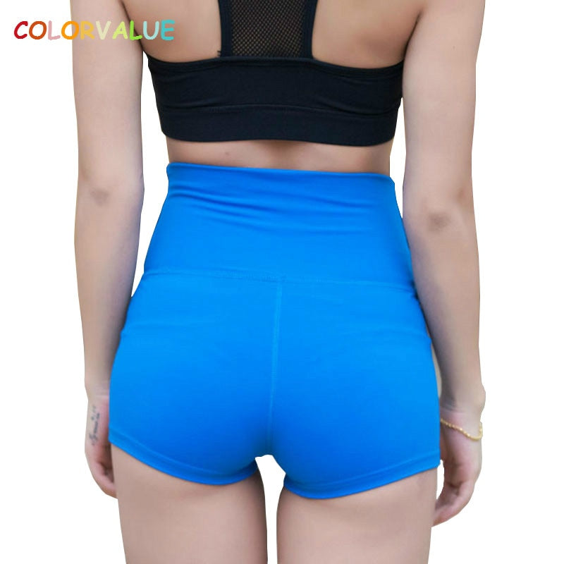 8ade84b63fd73 Colorvalue Tummy Control Jogger Running Shorts Women Widen Waistband  Fitness Gym Shorts Skinny High Waist Yoga Athletic Short – Beal | Daily  Deals For Moms
