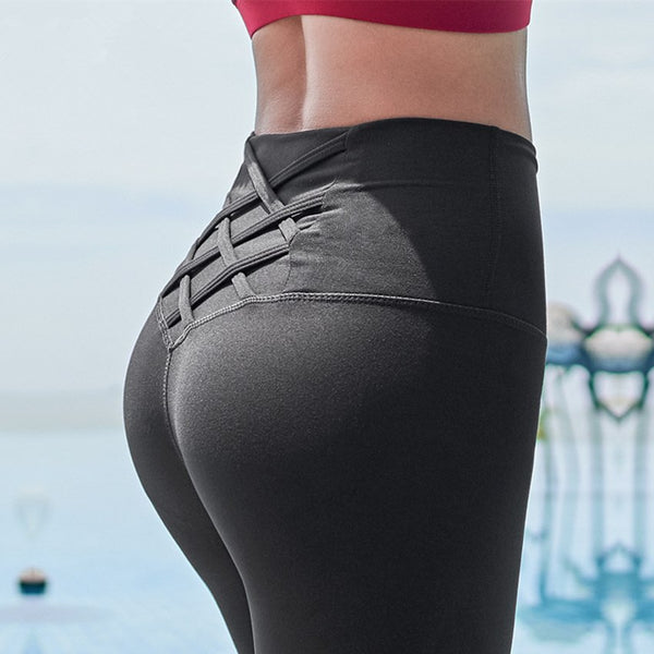 Criss Cross Waist Yoga Pants For Women High Waist Tummy Control Squant Fitness Leggings Dry-fit