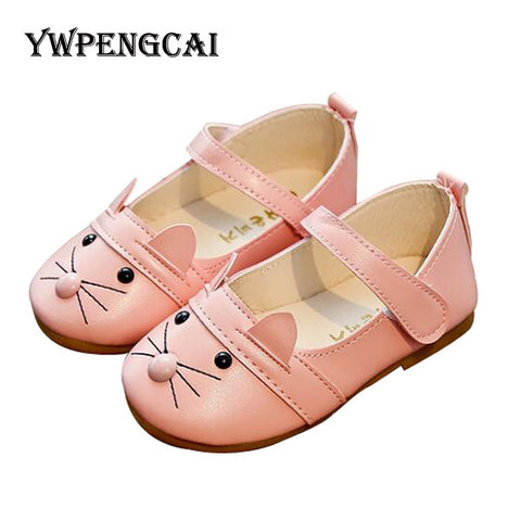 Cute Animal Patterns Children Shoes Girls Flats Spring Autumn Girls Princess Casual Singel Shoes