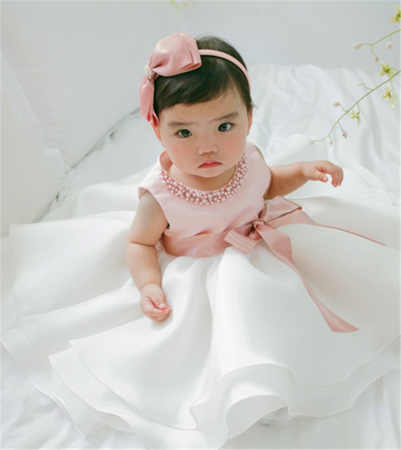 Cute Baby Girl Dress 1 Year Birthday Dress Infant Princess Wedding ... cfcaae70ac96
