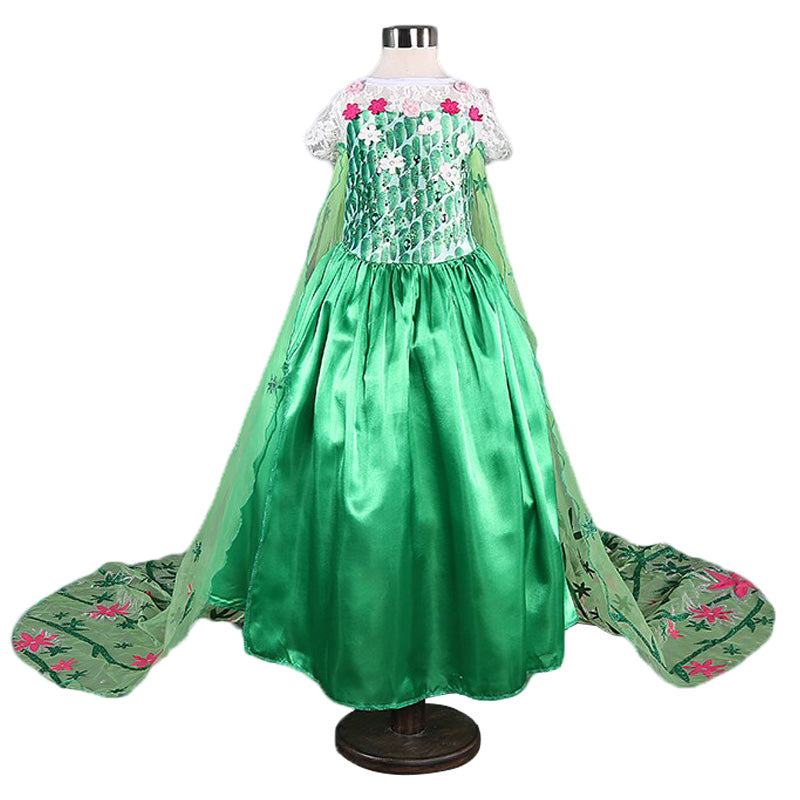 9a9632866ddb1 Cute Children Cosplay Princess Costume 3 4 5 6 7 8 Years Birthday Party New  Year Gift Lace Tail