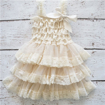 35574472 Cute Girl Clothes Pink Flower Girl Dresses Infant Wedding Party ...