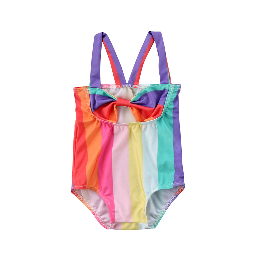 616a8af179c04 Cute Kid Baby Girl Stripe Rainbow Swimsuit Swimwear Bathing Suit Beachwear  Bow 2018 Summer Clothes 6M-2T – Beal
