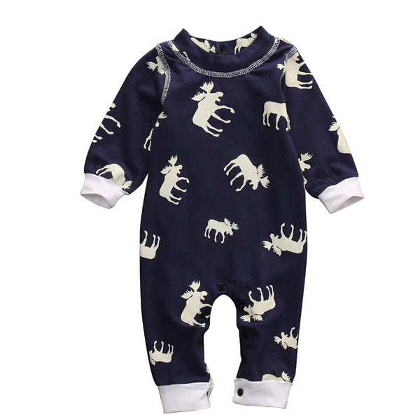 Cute Toddler Infant Baby Girl Boy Xmas Clothes Long Sleeve Romper Jumpsuit Pajamas XMAS Clothing