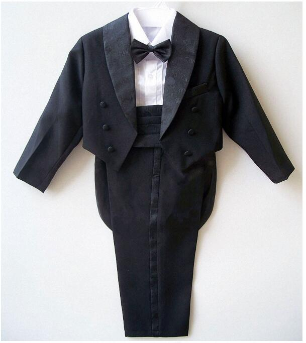 9f0dd173f188f DHL8   Wholesale Baby boy tuxedo suit for wedding child blazer clothing set  5pcs  coat + vest +