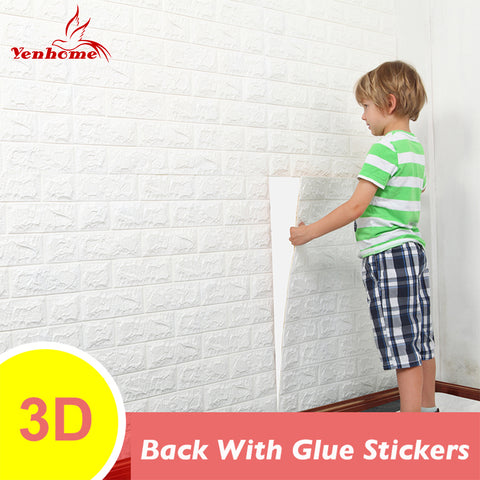 DIY Brick Wall 3D Sticker Living Room TV Background Decor Foam Waterproof 3D Wall Stickers Self adhesive Wallpaper For Kids Room