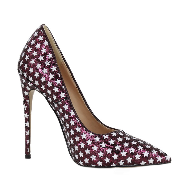 DoraTasia top quality plus Size 42 Women Shoes chic Style Sexy wine Party Pumps Fashion Glitter