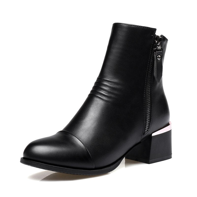 866343483ce Doratasia Brand New Top Quality Big Size 43 Elegant Women's Shoes Ankle  Boots Fashion Chunky