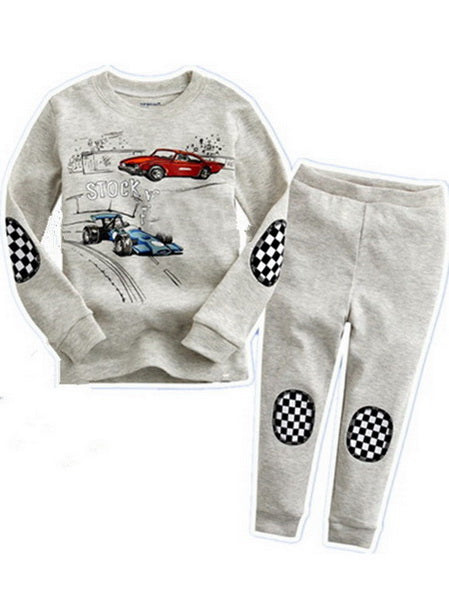 Drop Shipping boys girls pijamas cotton children pyjamas sleepwear baby kids pajama set spider