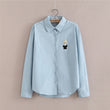 Elegant Blouse Blue White Shirt Women Size S-XL Ladies Office Shirts Formal & Casual Cotton Blouse Fashion Blusas Femininas CS32