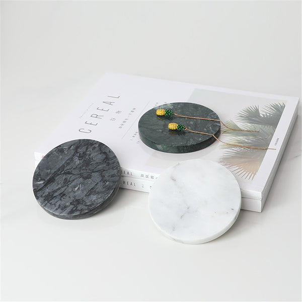 European Marble Pattern Office Table Storage Plate Chic Minimalist Scandinavian Nordic Ceramic