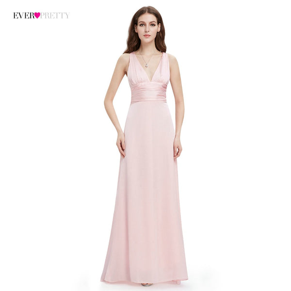 Evening Dress Ever Pretty EP09008 A-line Double V-neck Sleeveless Elegant Evening Dresses Long