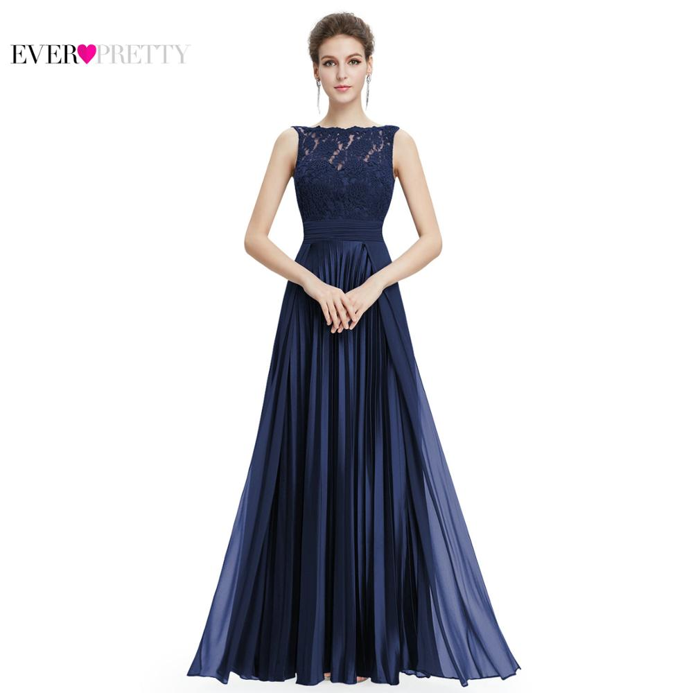 Ever Pretty Evening Dresses Gorgeous Formal Round Neck Lace Long ...