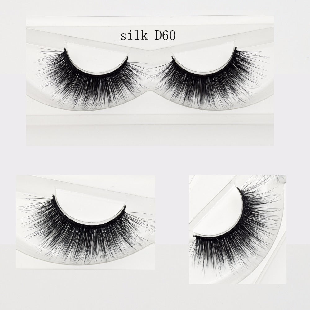 207c9f2310e Eyelashes Hand Made 3D Silk Eyelashes Natural Long Faux Mink Lashes Vegan  Cruelty Free False Lashes Extensions Maquiagem Makeup – Beal | Daily Deals  For ...