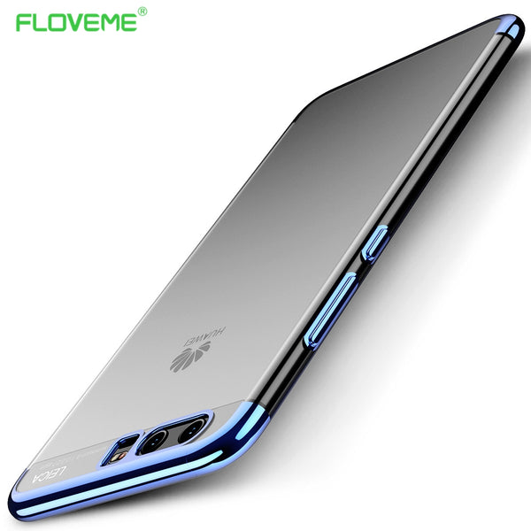 FLOVEME Phone Cases For Huawei P10 Case Luxury Gold Plated Clearly Soft TPU Silicone Cover Coque For Huawei P10 Plus Mate10 Capa