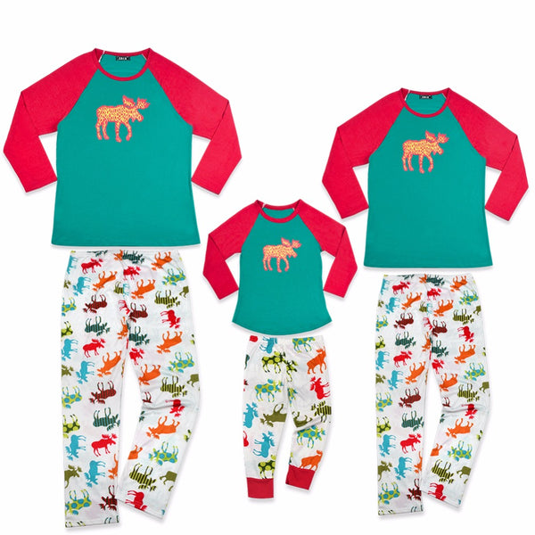 Family Christmas Pajamas Set Adult Kids Girls Boy Mommy Sleepwear Nightwear Mother Daughter