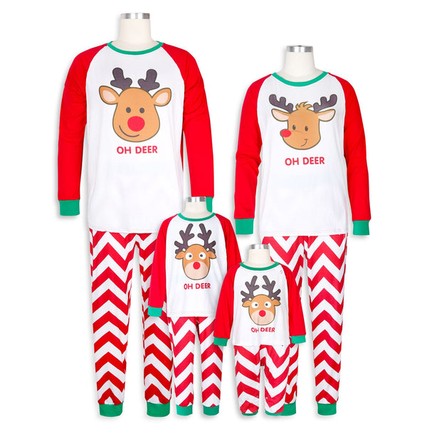 Family Matching Christmas Pajamas Sets 2018 Winter Mother Father Son Daughter Sleepwear Family