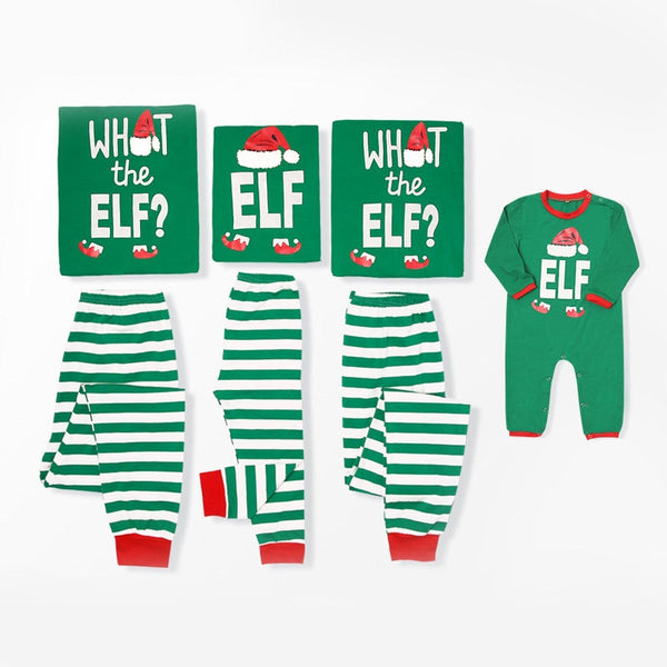 Family Matching Clothes Christmas Pajamas Mother Daughter Dad Son baby Outfits Stripe Printed