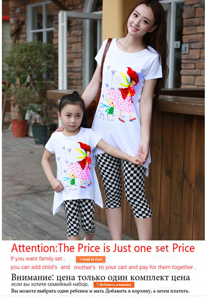 a01e45bb08407 Family Matching Outfits 2018 Summer family clothing sets girl clothing kids  clothes for mother and daughter clothes set