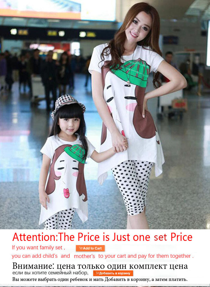 2f2b5aa9133f6 Family Matching Outfits 2018 Summer family clothing sets girl clothing kids  clothes for mother and daughter Leisure set clothes