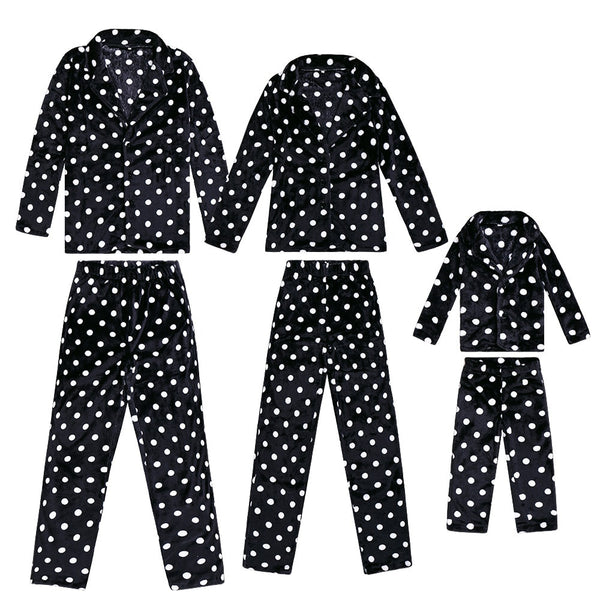 Family Matching Outfits Christmas Pajamas Winter new father mother boy girl suit warm home
