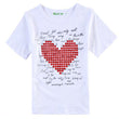 Family matching clothes Parent-child Casual Outfit Family Clothing Short Sleeve Cotton T-shirt Summer Love Family Suits
