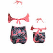 Famli 1pc Mother Daughter Swimwear Outfits Family Women Lady Kid Bikini Bathing Swimsuit Mommy Me Girl Swimming Clothing Set