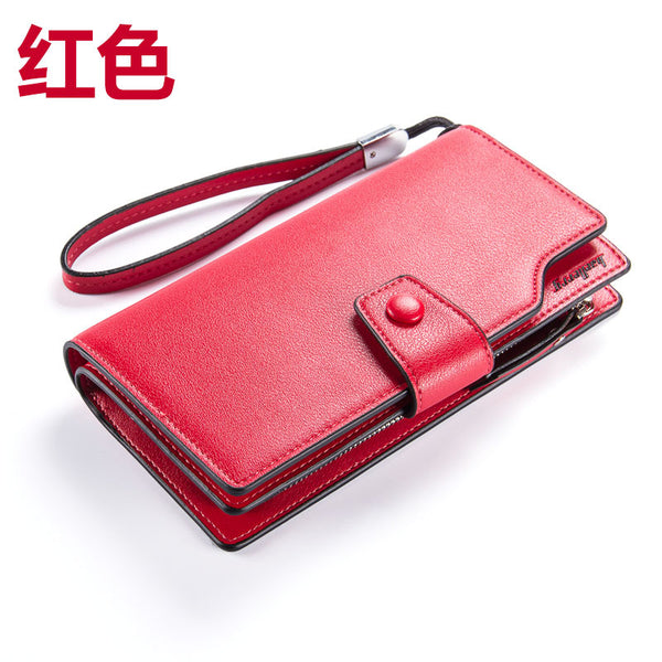 Famous Brand Leather Women Wallets Fashion Zipper&Hasp Lady Wallet Female Coin Purse Big