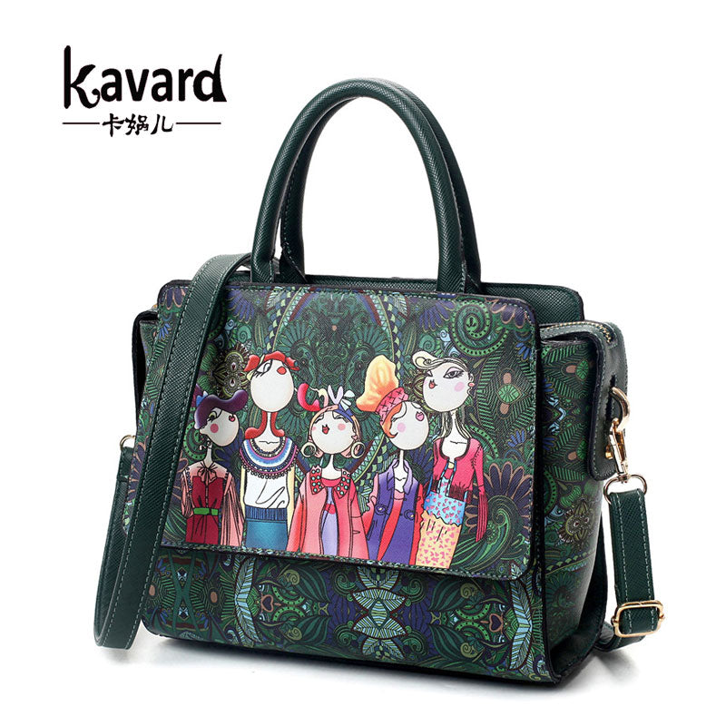 ca5497cc Famous brand kavard Forest green bags crossbody bag for Women Bag 2017  Designer Handbag lady hand