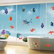 Fashion 1 Set Cute Children Colorful Fishes Sea World 3D Wall Sticker Bedroom Bathroom DIY Home Decals Decorative Accessories