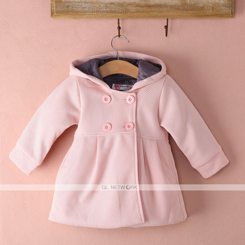 cc9c43039a32 Fashion 100% Cotton New Baby Toddler Girl Autumn Winter Horn Button ...