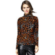 Fashion Autumn Winter Blusa Women Turtleneck Warm Cashmere T-shirt Tops 2017 Casual Slim Leopard T Shirt For Women Tops CS812