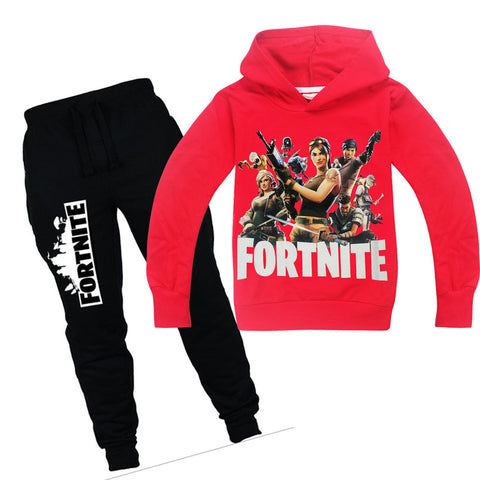 Fashion Baby Boys Girls Sweatshirts Cotton Kids Hoodies Fortnite Print Children Clothes long