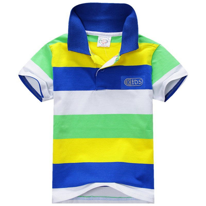ba6fd13d Fashion Summer Baby Boys Short Sleeve T Shirt Kids Tops Striped Polo ...