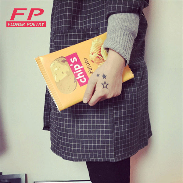 Fashion Women Envelope Bags PU Leather Handbag Potato Chips Day Clutches Bags 3 Size Available