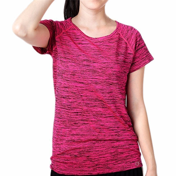 Fitness Breathable Sweat-absorbing Women T Shirt Sport Tops Quick-Dry Slim Running T-Shirts Gym Clothes Short Sleeve Shirt