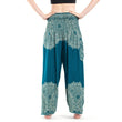 Floral Wide Leg Long Harem Pants High Waist Loose Elastic Waist Palazzo Trousers Plus Size New