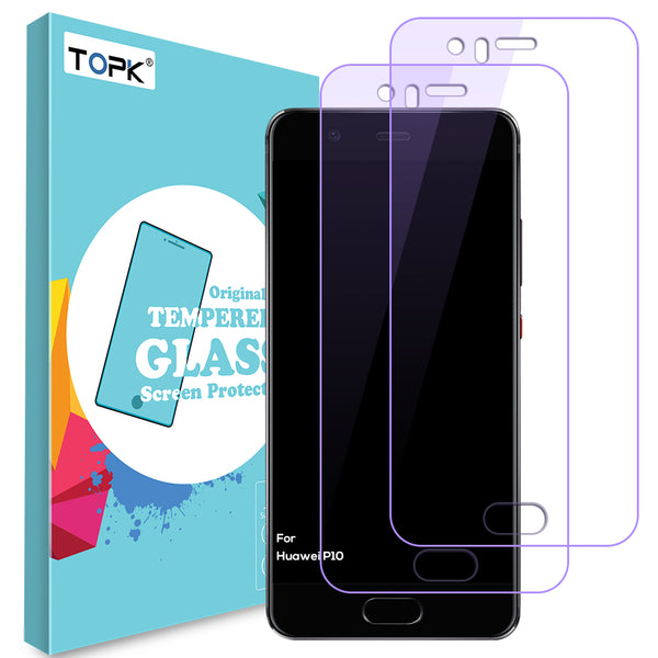 For Huawei P10 Screen Protector,TOPK HD Transparent Anti Blue Light Screen Protection Toughened glass for Huawei P10 Plus