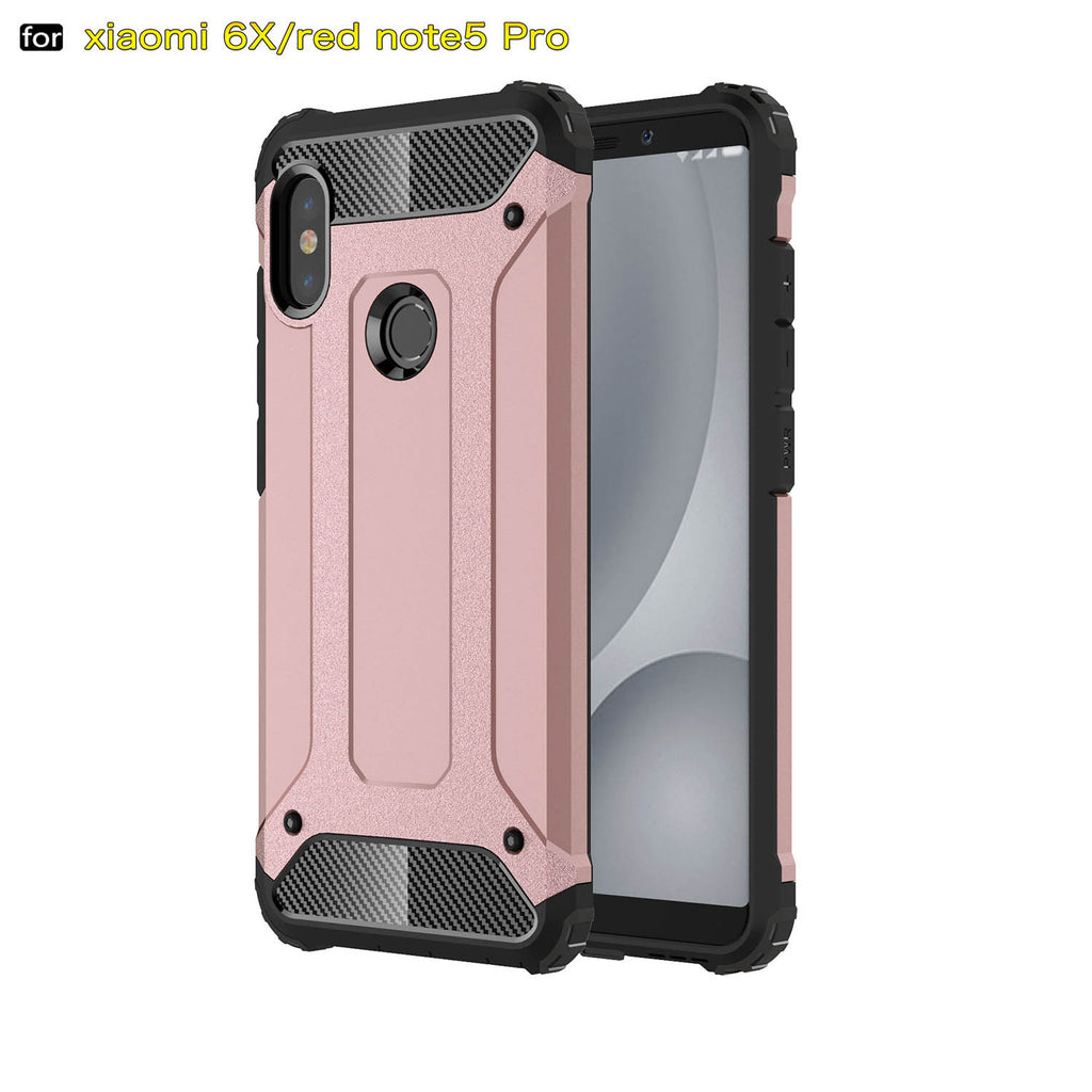 official photos 2be64 c68e8 For Xiaomi Redmi Note 5 Pro Case Note5 Pro Hard Rugged Hybrid Armor Capa  Protective Slim Back Cover For Redmi Note 5 (XX1221)