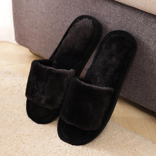 Fur slippers shoes woman fashion tap hoe winter sandals female casual women shoes Indoor