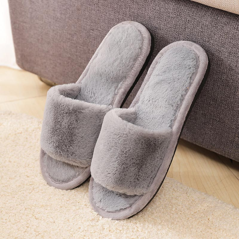 dde2d2384d Fur slippers shoes woman fashion tap hoe winter sandals female casual women  shoes Indoor